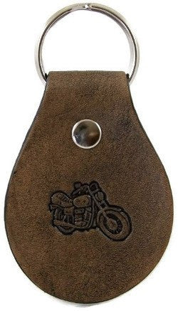 Motorcycle Leather Keychain