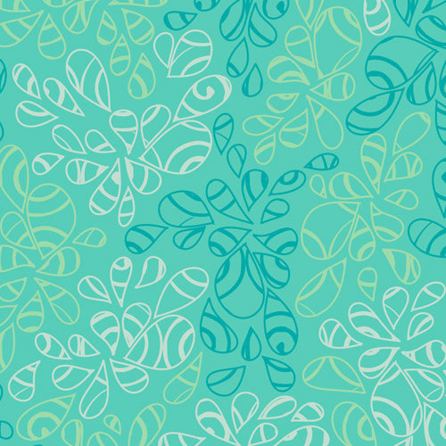 Art Gallery Fabrics Nature Elements Caribbean Blue Blender Fabric NE-118-Caribbean-Blue