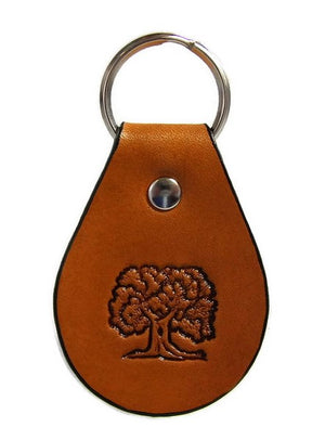 Oak Tree Leather Keychain Made in Montana Free Gift Wrap