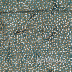 Hoffman Fabrics Precious Metals Grey Gold Metallic Bali Batik Fabric P2061-622G-Cool-Grey-Gold