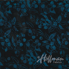 Hoffman Fabrics Midnight Blue Blueberry Bali Batik Fabric P2986-128-Midnight