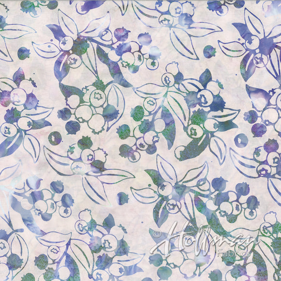 Hoffman Fabrics Petit Four Purple Blueberry Batik Fabric P2986-576-Petit-Four