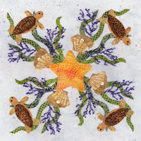 P3-2405 Starfish Turtle Wreath Block 5