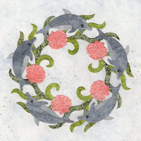 P3-2410 Dolphin Wreath Block 10