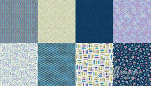 Hoffman Fabrics All A Twitter Blueberry Two Yard Fat Quarter Panel Digital Cotton Fabric P4392-87-Blueberry