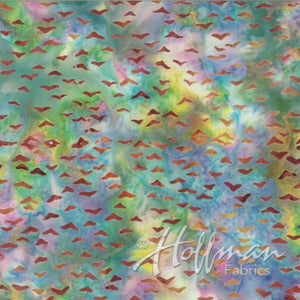 Hoffman Fabrics Multi-Color Horizon Seagull Bird Batik Fabric Q2139-645-Horizon