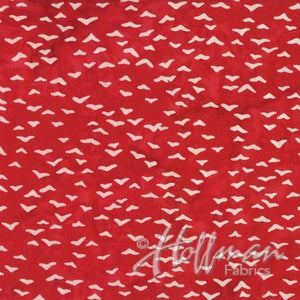 Hoffman Fabrics Peppermint Red  Seagull Bird Batik Cotton Fabric Q2139-75-Peppermint