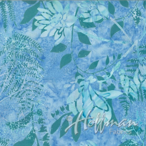 Hoffman Fabrics Peace Blue Batik Cotton Fabric Q2140-541-Peace
