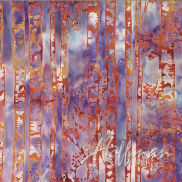 Hoffman Fabrics Red Purple Canyon Birch Tree Batik Cotton Fabric Q2141-646-Canyon