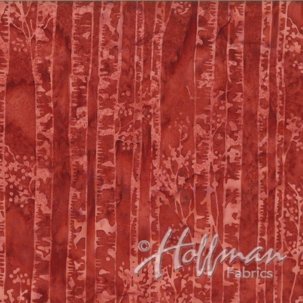 Hoffman Fabrics Barn Red Birch Batik Cotton Fabric Q2141-83-Barn Red