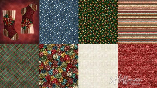 Hoffman Fabrics Ol St Nick Christmas Two Yard Fat Quarter Panel Q4455-161-Christmas