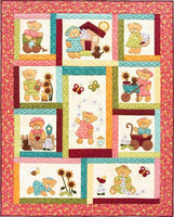 Kids Quilts Daisy Bear Girl Teddy Bear Applique Quilt Pattern