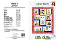 Kids Quilts Daisy Bear Girl Teddy Bear Applique Quilt Pattern Covers