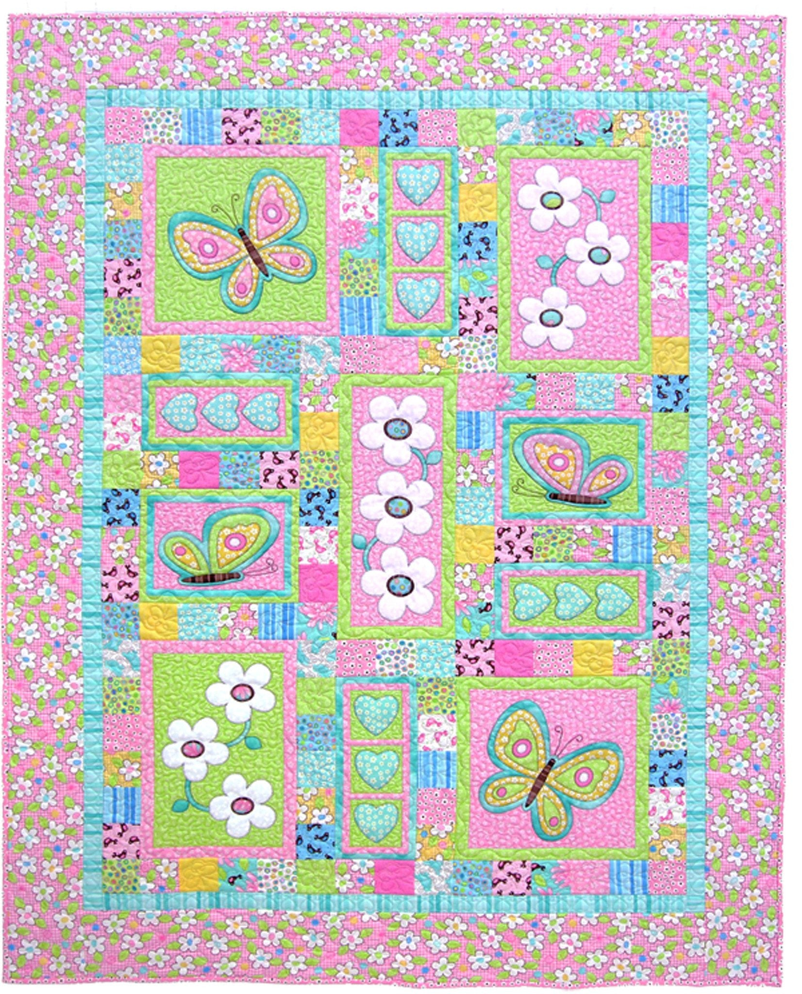 Kids Quilts Oops a Daisy Applique Quilt Pattern