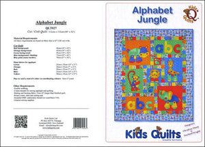 Kids Quilts Alphabet Jungle Quilt Pattern Covers