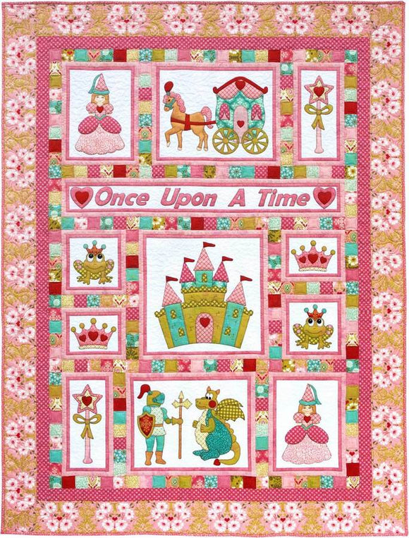 Kids Quilts Once Upon A Time Princess Fairy Tale Applique Quilt Pattern