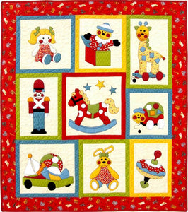 Kids Quilts Ye Olde Toy Shop Giraffe Rabbit Horse Toy Applique Quilt Pattern