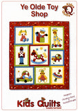 Kids Quilts Ye Olde Toy Shop Giraffe Rabbit Horse Toy Applique Quilt Pattern Front Cover