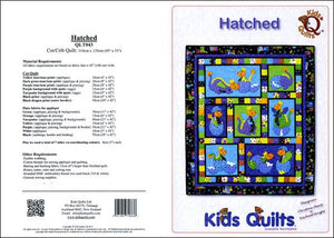 Kids Quilts Hatched Polka Dot Baby Dragon Applique Quilt Pattern Covers