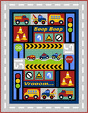Kids Quilts Traffic Jam Truck Fire Engine Car Applique Quilt Pattern