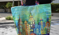 Skylines Big City Bag by Abigail Gail Baker for Hoffman Fabrics FREE Pattern Download