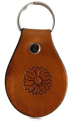 Sunflower Leather Keychain