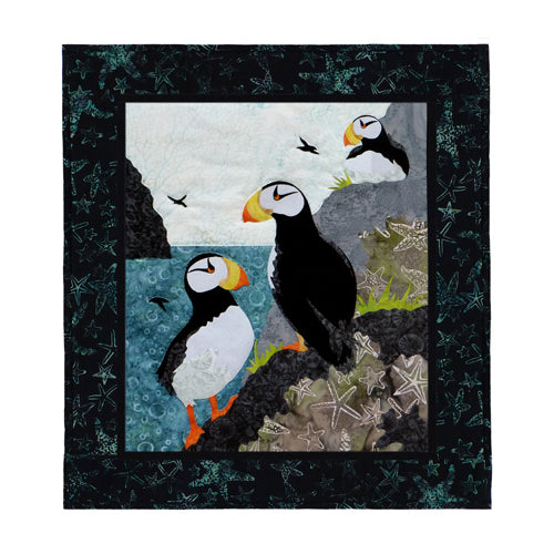 Wildfire Designs Alaska Maritime's Most Wanted Horned Puffin Applique Quilt Pattern