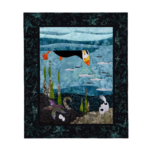 Wildfire Designs Alaska Maritime's Most Wanted Tufted Puffin Applique Quilt Pattern