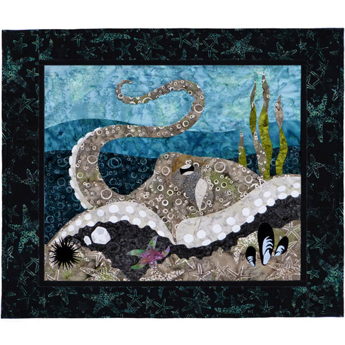 Wildfire Designs Alaska Maritime's Most Wanted Octopus Applique Quilt Pattern