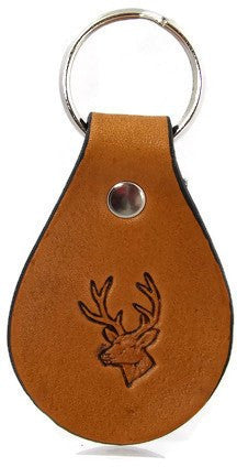 Whitetail Deer Leather Keychain