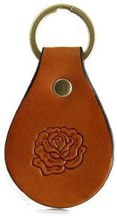 Wild Rose Leather Keychain