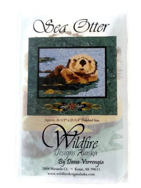 Wildfire Designs Alaska Sea Otter Applique Quilt Kit with Pattern and Fabric Kit