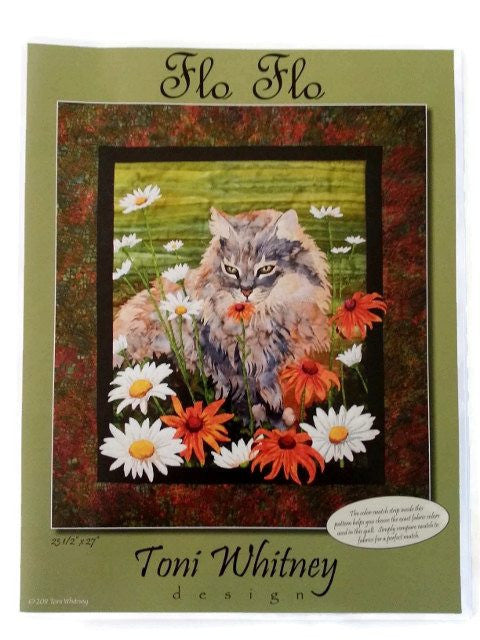 Toni Whitney Design Flo Flo Applique Quilt Kit with Pattern and Fabric Kit - Beaverhead Treasures LLC
