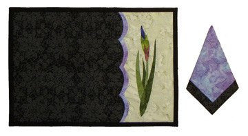 Wildfire Designs Alaska Wild Iris Table Runner Applique Quilt Pattern - Beaverhead Treasures LLC