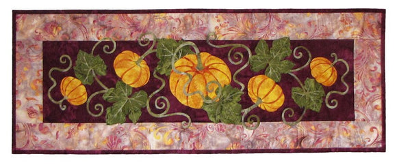 Wildfire Designs Alaska Pumpkin Patch Too Table Runner Applique Quilt Kit with Pattern and Fabric Kit - Beaverhead Treasures LLC