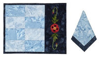 Wildfire Designs Alaska Poppies Table Runner Applique Quilt Kit with Pattern and Fabric Kit - Beaverhead Treasures LLC