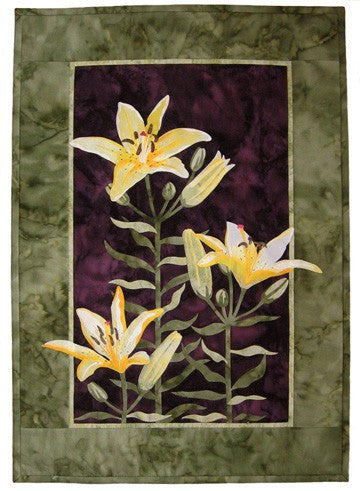 Wildfire Designs Alaska Lily Trinity Butter Applique Quilt Pattern