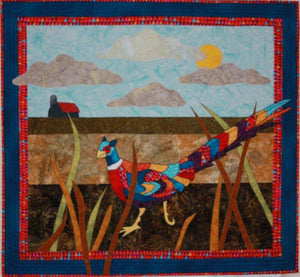 BJ Designs & Patterns Pheasant Under Grass Applique Quilt Pattern - Beaverhead Treasures LLC
