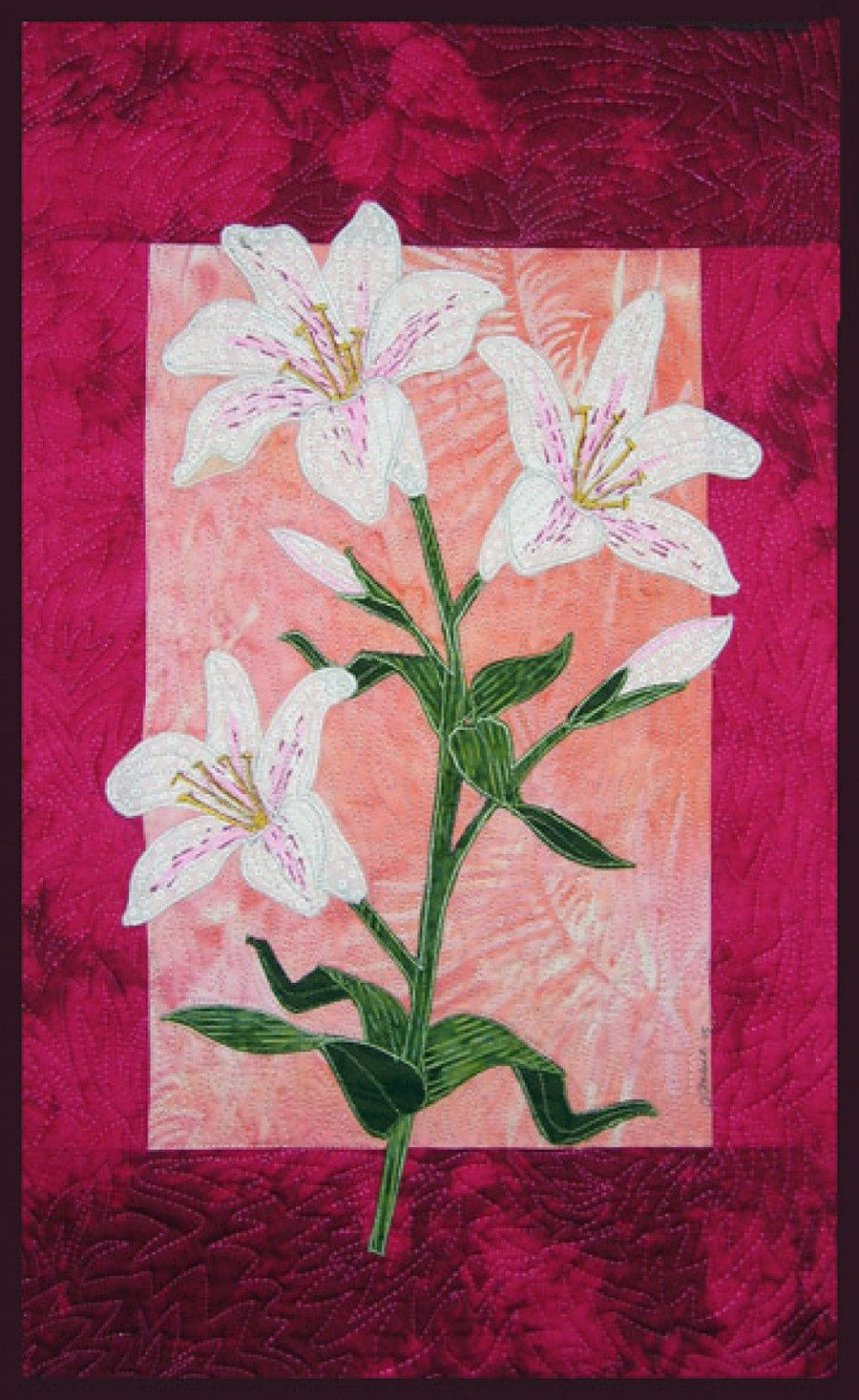 Zebra Patterns Speckled Lily Flower Applique Quilt Pattern - Beaverhead Treasures LLC