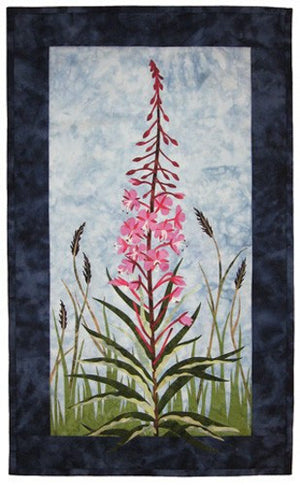 Wildfire Designs Alaska Fireweed Applique Quilt Kit with Pattern and Fabric Kit - Beaverhead Treasures LLC