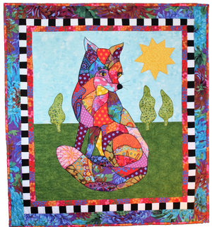 BJ Designs & Patterns Foxy Fox Applique Quilt Pattern