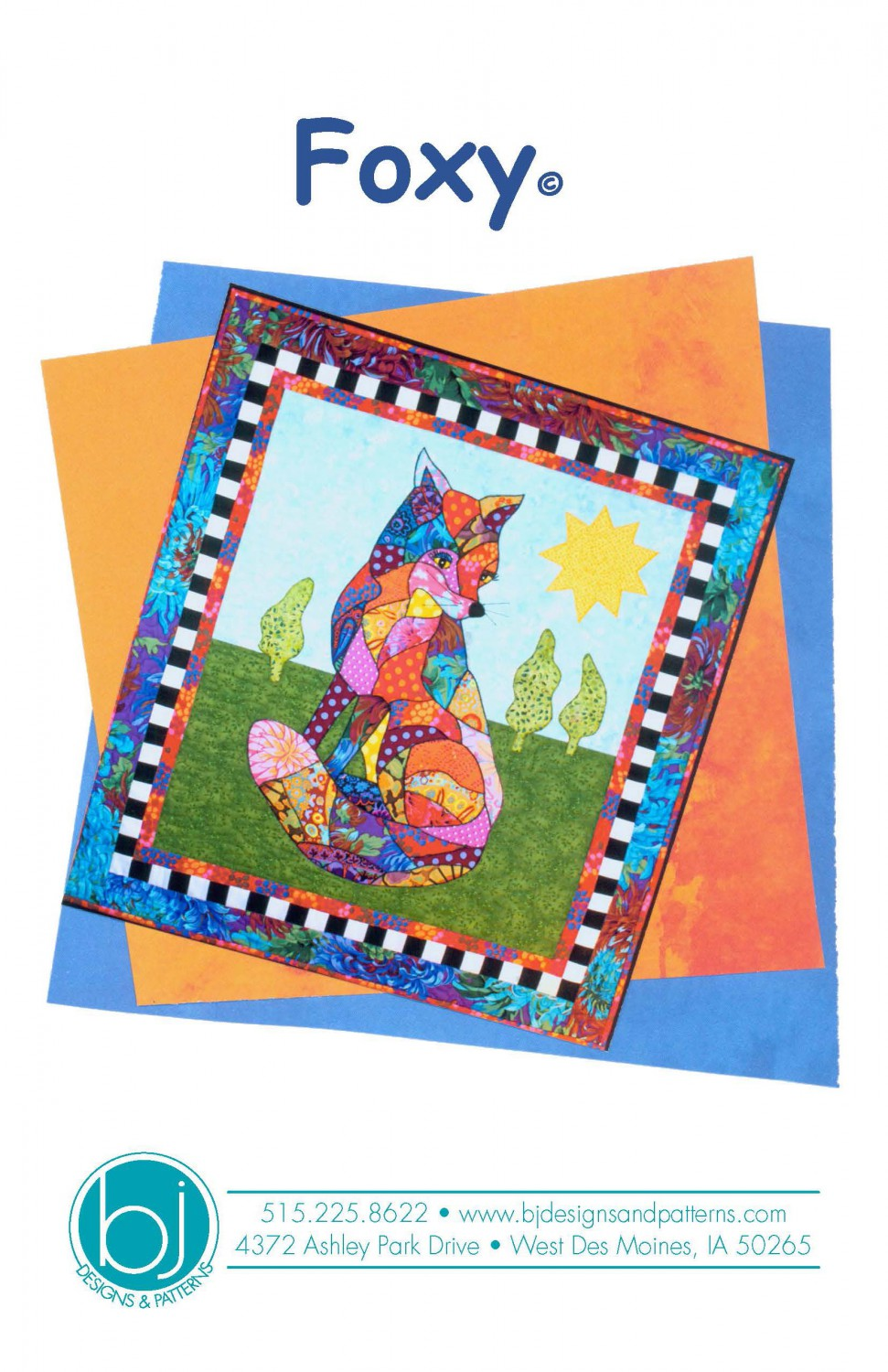 BJ Designs & Patterns Foxy Fox Applique Quilt Pattern Front