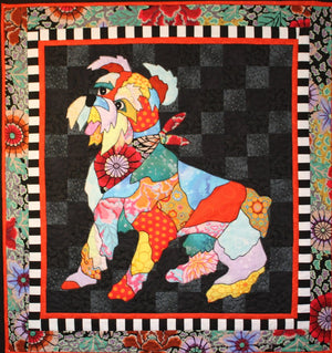 BJ Designs & Patterns Rocky the Schnauzer Dog Applique Quilt Pattern