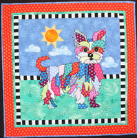 BJ Designs & Patterns YoYo the Yorkshire Terrier Dog Applique Quilt Pattern