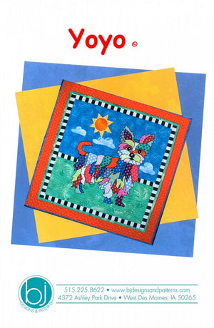 BJ Designs & Patterns YoYo the Yorkshire Terrier Dog Applique Quilt Pattern Front Cover