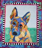 BJ Designs & Patterns Sarge German Shepherd Dog Applique Quilt Pattern
