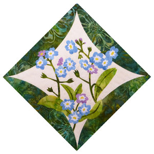 Wildfire Designs Alaska Northern Flora Block 1 Forget Me Not