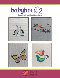 Barbara Persing Babyhood 2 Butterfly and Birds Applique Quilt Pattern Front Cover