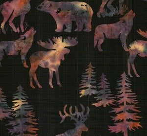 Hoffman Fabrics Sugarplum Alaskan Animals C362-286-Sugarplum Batik Fabric by the Yard