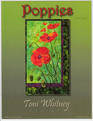 Toni Whitney Design Poppies Applique Quilt Pattern Front Cover